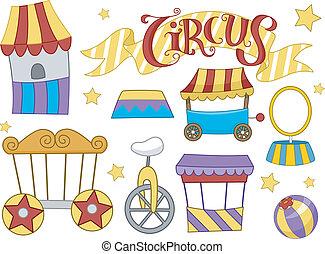 cirque, éléments