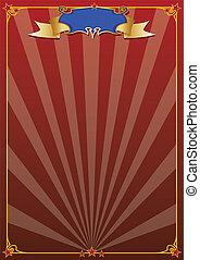cirque, arrière-plan rouge