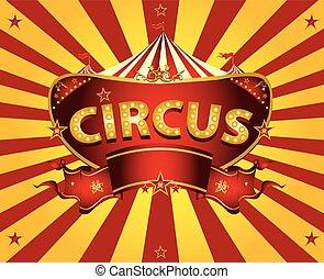 cirque, carte, rayons soleil