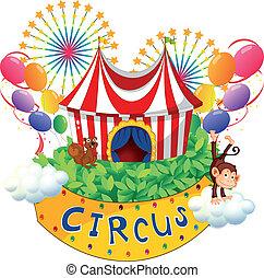 cirque, enseigne, carnaval
