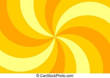 cirque, fond jaune