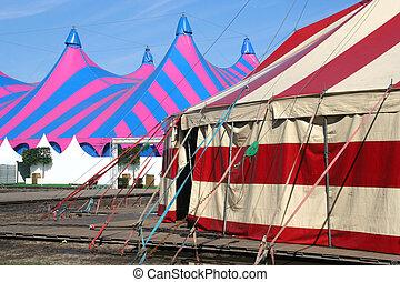 cirque, tentes
