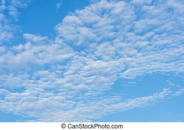 Cirrocumulus cloud on blue sky for backgrounds concept