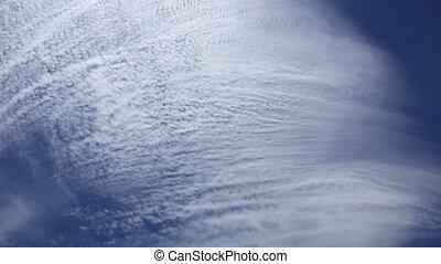 Cirrus clouds. - Aerial view of cirrus clouds.