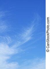 Cirrus Clouds Against a Blue Sky