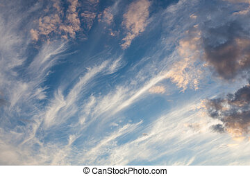 Cirrus clouds sky scape - Beautiful cirrus clouds sky scape ...
