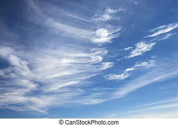 Cirrus clouds. - Cirrus clouds in blue sky.