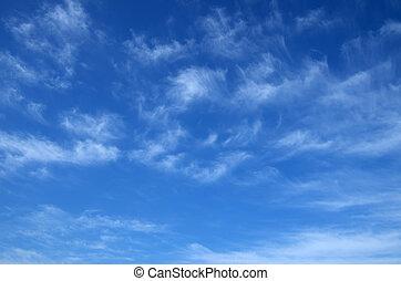 Cirrus - Photo of spring blue sky with beautiful cirrus ...