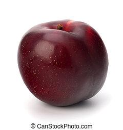 ciruela, fruta, rojo