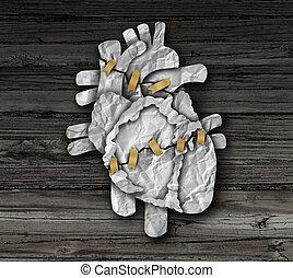cirugía corazón, humano