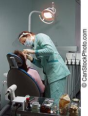 cirugía dental, oficina