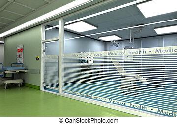 cirugía, habitación, menor