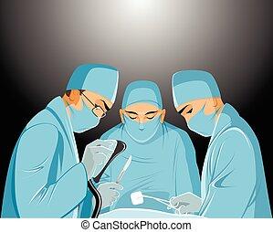 cirujanos, sala de operaciones