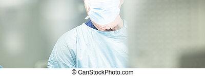 cirurgião, em, hospitalar, cirurgia