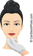 cirurgia, avaliação, cosmético