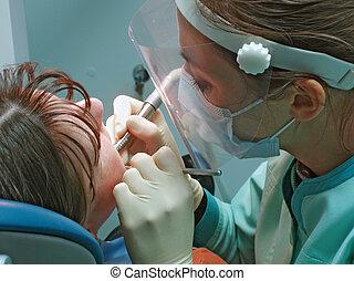 cirurgia dental, escritório