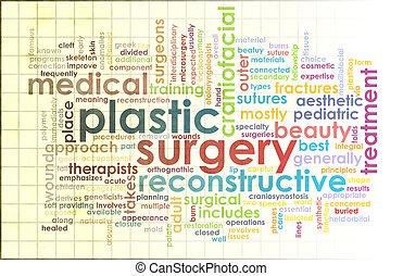 cirurgia, plástico