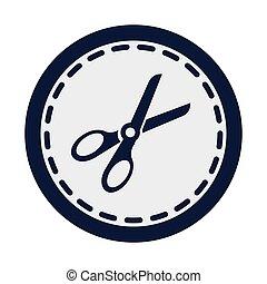 ciseaux, icône, outillage