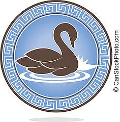 cisne, ornamento