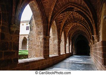 Cistercian cloister of Monasterio de Piedra, Spain