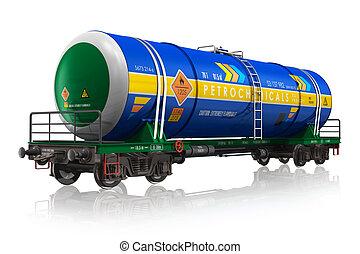 cistern, bensin, järnväg bil