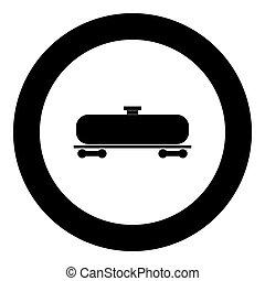 Cistern black icon in circle vector illustration