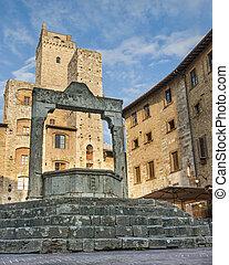 Cistern In San Gimignano Italy - Cistern In San Gimignano...
