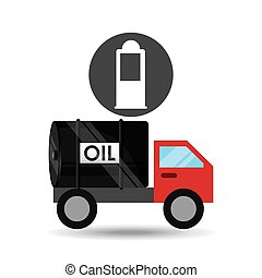 cistern, pump, olja transportera, bensin