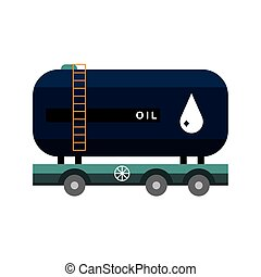 cistern tank in trailer of oil price icon