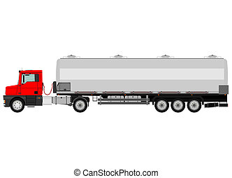Cistern truck - Cartoon cistern truck isolated on a white ...