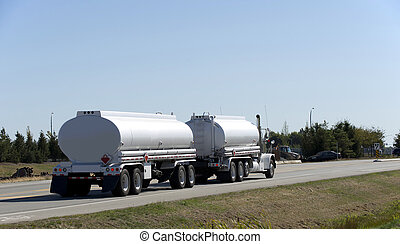 Cistern truck on the road
