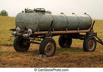 cisterna, zalévání, fullsize, dobytek