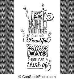 citação, encorajar, desenho