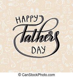 citação, feliz, pai, s, day., excelente, feriado, card., vetorial, illustration.