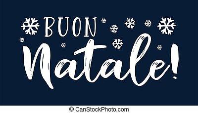 cita, buon, navidad., translated, logotipo, header., ...