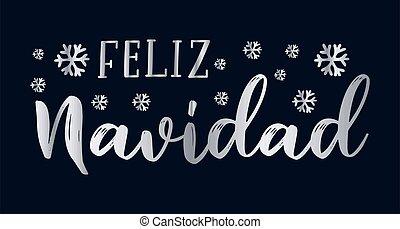 cita, celebración, letras, feliz, navidad, translated, o, ...