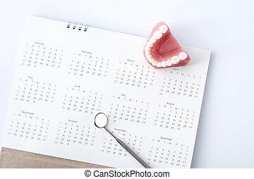 cita dental, concepto