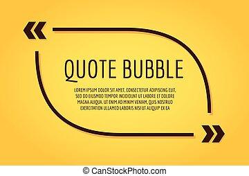 cita, diseño, plantilla, blanco, burbuja, vacío