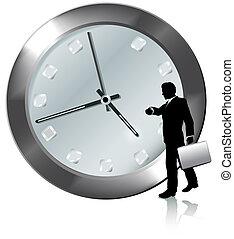 cita, empresa / negocio, reloj, relojes, persona, tiempo