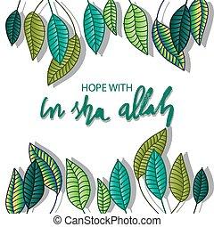 cita, lettering., sha, esperanza, allah., quran.