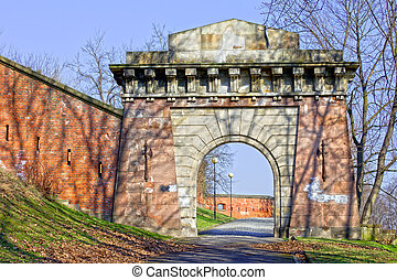Gate to the Citadel in Warsaw, Poland