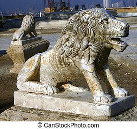 Citadel lion statue