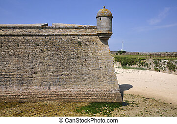 Citadel of Port Louis in Brittany - - Wall of the citadel ...