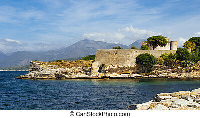 Citadel of Saint-Florent, in Corse, France - a view of the ...