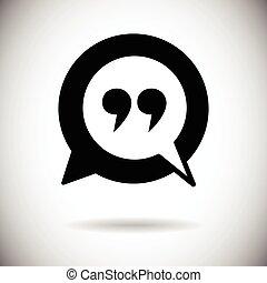 citare, marchio, icona, quotazione