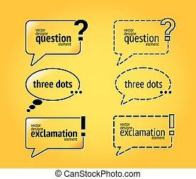 citation, attention, question, citations, signe, texte, bulle