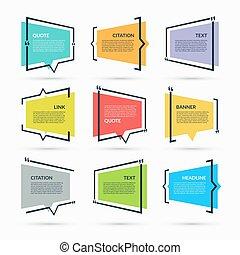 citation, bulles, ensemble, parole