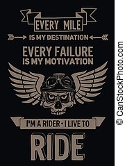 citation, motivation, vecteur, motard, locution