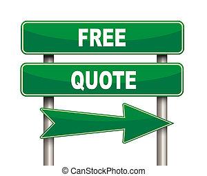 citation, vert, gratuite, panneaux signalisations