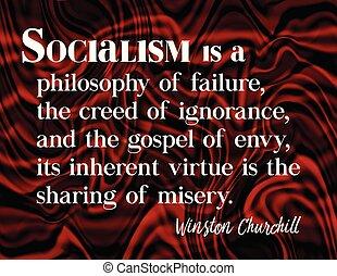 citazione, churchill winston, socialism